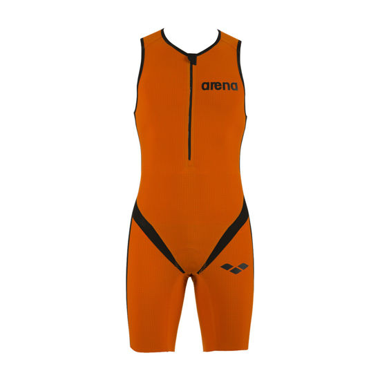 Bild på Triathlondräkt Carbon Zip Fram Herr Orange